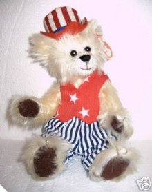 TY Attic Treasures UNCLE SAM Bear Gorgeous Plush!