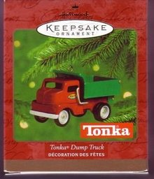 Hallmark 2000 Tonka Dump Truck Die-Cast Metal Ornament