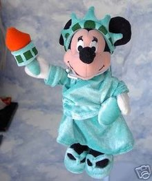 Disney Minnie Mouse STATUE of LIBERTY Beanie Bean Bag