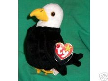 Ty BALDY Beanie Baby Bald Eagle- New