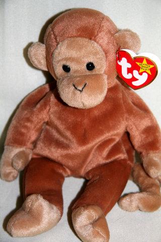 Ty BONGO Beanie Baby Monkey- New Plush
