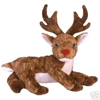 Ty ROXIE Red Nose Reindeer Beanie Baby Rudolph Christmas