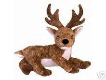 Ty ROXIE Black Nose Reindeer Beanie Baby Christmas
