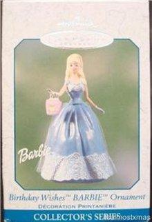 Hallmark 2003 Birthday Wishes Barbie #3 Spring Ornament