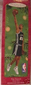 TIM DUNCAN 7th~SERIES Basketball SPURS Hallmark Ornament 2001