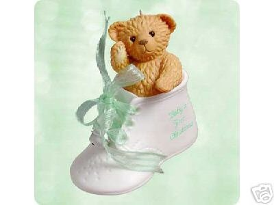 2003 Baby's First Christmas~Porcelain Hallmark Ornament