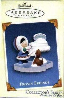 Hallmark 2005 FROSTY FRIENDS Eskimo & Husky Dog #26 Ornament