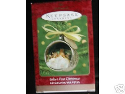 BABY's FIRST Christmas Silver Cup Hallmark 2000 Engrave-able Ornament