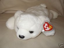 TY CHILLY White Polar Bear Beanie Buddy -MINT