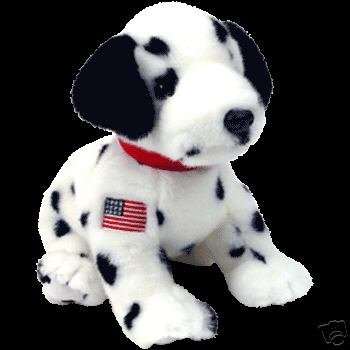 RESCUE the 9-11 Dalmation TY American Plush Beanie BUDDY