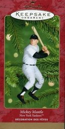 MICKEY MANTLE Yankees Hallmark Ornament 2001 Baseball