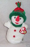 Ty SNOWGIRL Beanie Baby Beanbag Winter Christmas Holiday Snowman