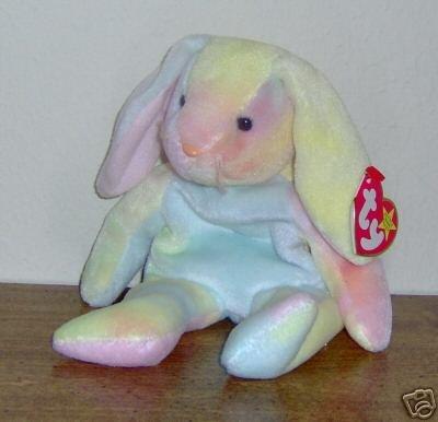 Ty Hippie Beanie Baby Pastel Tie Dye Rabbit Bunny- New