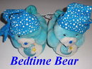 Care Bears Blue BEDTIME Bear Toddler Slippers Sz M or L