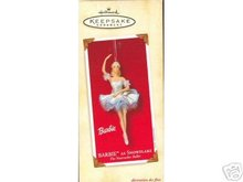 Barbie as SNOWFLAKE Nutcracker Ballerina Porcelain Hallmark Ornament 2002