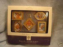 Hallmark Family Tree Starter Kit~ 5 Photo Holders~Gold Frames