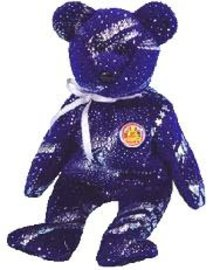 ASTRA Ty Beanie Baby Bear BEANIE OF THE MONTH