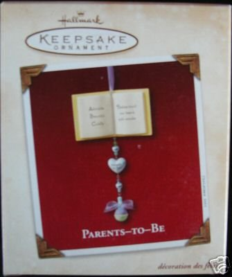 PARENTS TO BE Hallmark PORCELAIN Ornament 2003