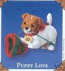 PUPPY LOVE Jack Russell Terrier DOG Hallmark 2002 Christmas Ornament #12