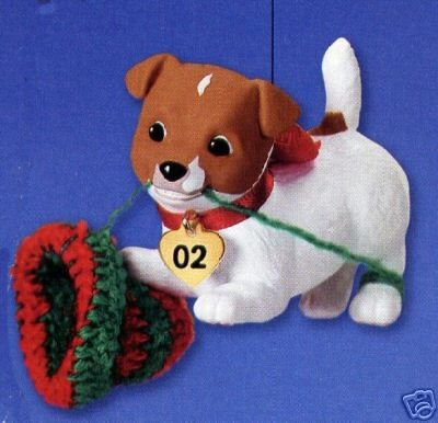 PUPPY LOVE Jack Russell Terrier DOG Hallmark 2002 Christmas Ornament #12