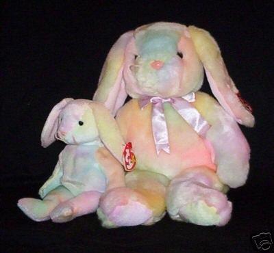 9764dcefd26 Ty HIPPIE Beanie Baby   Buddy Bunny Rabbits Plush