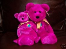Ty MILLENNIUM Beanie Baby Bear & Buddy Plush