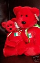 Ty OSITO Beanie Baby & Buddy Bears Mexico Mexican Flag Plush