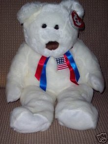 Extra Large Ty LIBEARTY Beanie Buddy Bear MWMT 28