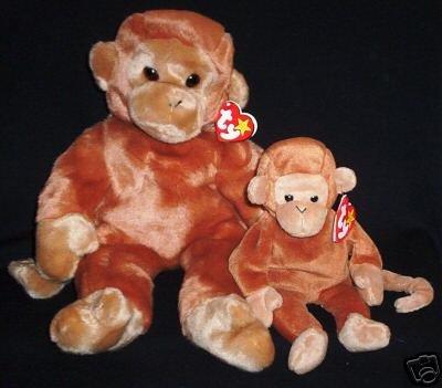 Ty BONGO~Beanie Buddy Monkey~New~Mint