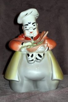 AUTHENTIC Regal China French SALAD CHEF Cookie Jar Vintage