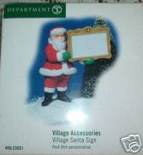 Deptartment 56 Village Santa Sign - Village Accessories