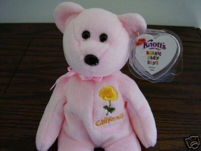 Ty Knotts Berry Farm Exclusive CALIFORNIA POPPY Beanie Baby Knott's