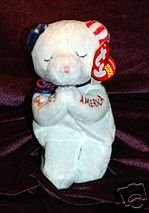Ty Knotts Berry Farm Exclusive AMERICAN BLESSINGS Beanie Baby Bear Knott's