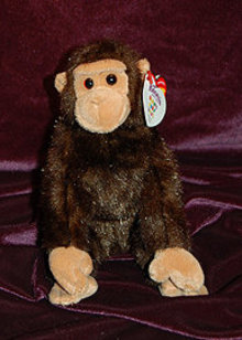 Ty Knotts Berry Farm Exclusive WEAVER Beanie Baby Monkey Knott's