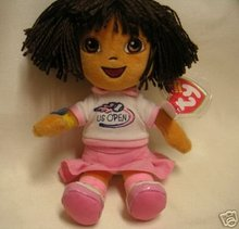 Ty DORA Beanie Baby U.S.OPEN Tennis Exclusive US Tenis