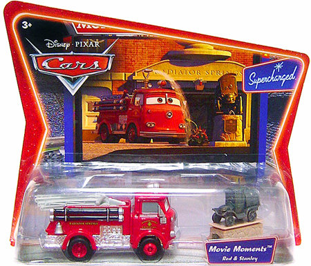 Set of 2~ Disney Die Cast STANLEY & RED Fire Engine Diecast~Movie Moments