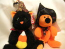 Ty FRIGHTFUL & HAUNTS Halloween Beanie Babies~BORDERS EXCLUSIVE