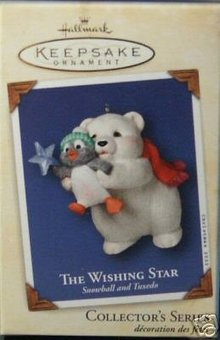 Snowball &Tuxedo~Wishing Star~#2 Hallmark 2002 Ornament