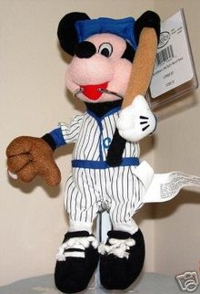 Disney Mickey Mouse BASEBALL Player Beanbag Bean Bag NEW