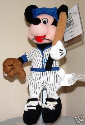 Disney Mickey Mouse BASEBALL Player Beanbag Bean Bag NEW