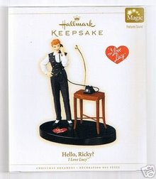 I Love Lucy~HELLO,RICKY Hallmark Christmas Talking Ornament 2006 NEW
