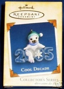 2005 Hallmark Ornament COOL DECADE #6 White Seal