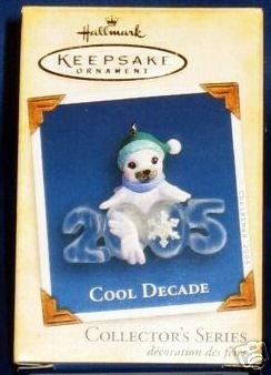 2005 Hallmark Ornament COOL DECADE #6 White Seal