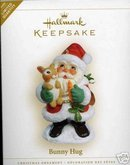 BUNNY HUG Santa & Rabbit Hallmark 2006 Ornament
