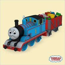 Thomas Tank Engine Train Hallmark set of 2 Ornaments CHEERY CARGO 2006