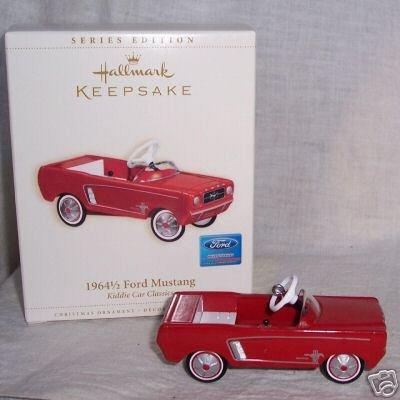 Original Hallmark 1964 1/2 Ford MUSTANG Kiddie Car Classics 2006 Christmas Ornament