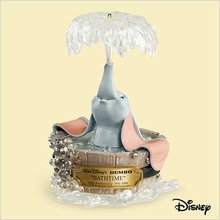 2006 Hallmark Disney BATHTIME DUMBO 65th Anniversary Christmas Ornament