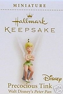 PRECOCIOUS TINK Mini Tinker bell Disney Peter Pan 2006 Hallmark Ornament