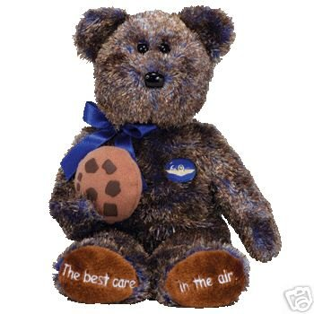 Ty Midwest Airlines CHOCOLATE CHIP Beanie Baby Bear