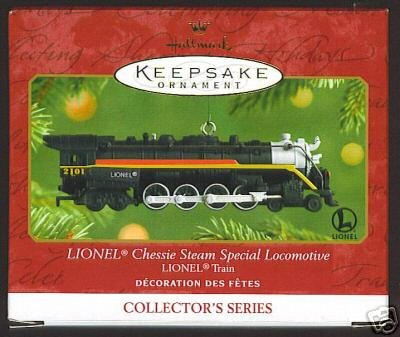 LIONEL Locomotive CHESSIE Steam Special Hallmark Train Ornament 2001
